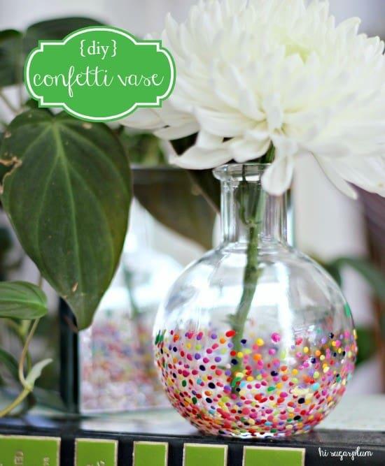 Painted Confetti Vase