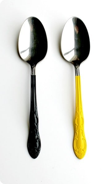 Paint Dipped Silverware Knockoffdecor Com