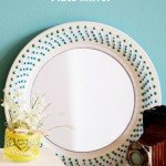 DIY Decorative Mirror from a Dinner Plate