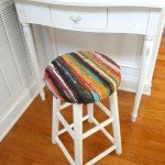 Stool Upholstered with Rug
