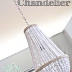 Chic Wood Bead Chandelier