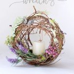 Spring Candle Wreath
