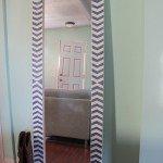 DIY Herringbone Floor Mirror