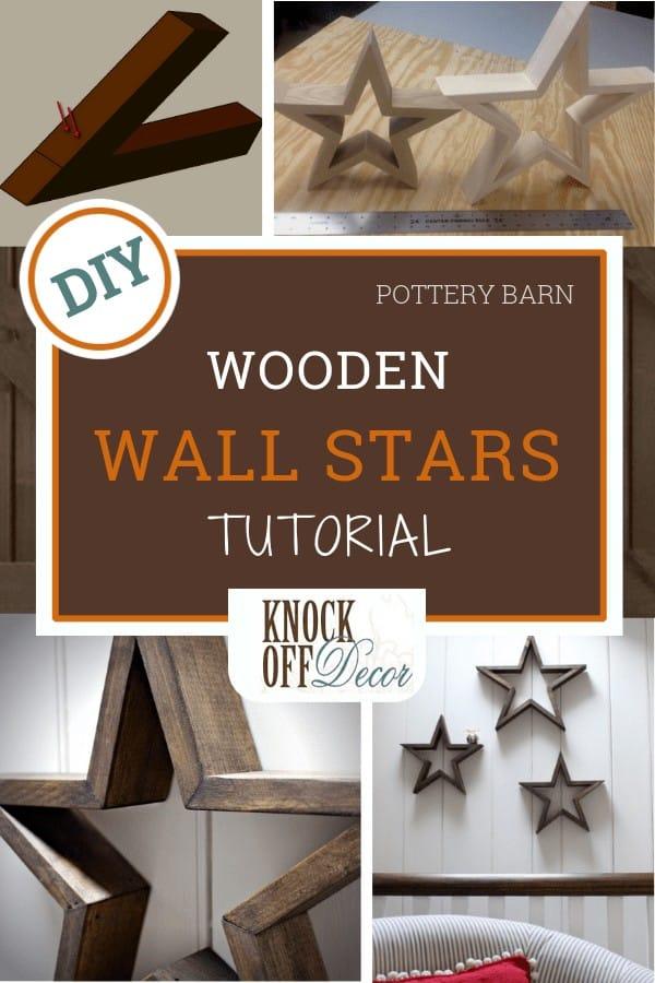 wooden wall stars