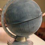Chalkboard Globe Makeover