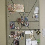 Burlap and Ribbon Memo Board