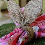 Burlap Easter Napkin Rings