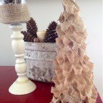 Turn Burlap Scraps Into a Christmas Tree