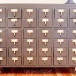 Card Catalog Craft Room Storage