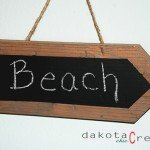 Rustic Wood Chalkboard Sign