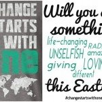 Change Starts with One! Let's Be Radical!