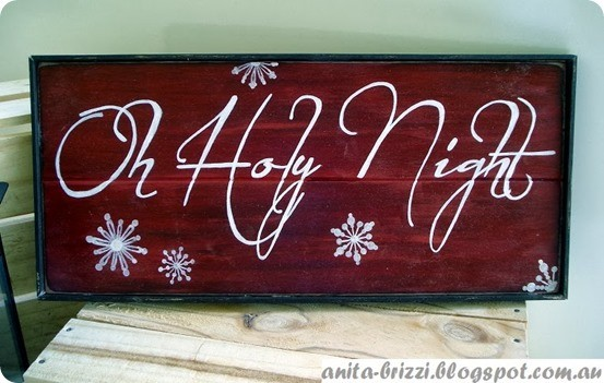 O Holy Night Christmas Sign Knockoffdecor Com