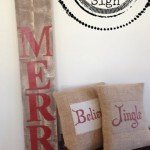 Large Vertical Wood Christmas Sign