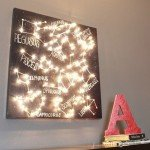 Constellation Wall Canvas with Lights