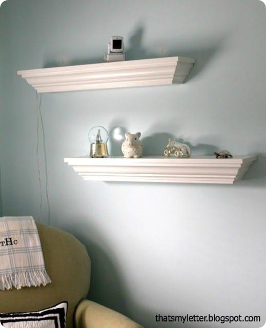 Crown Molding Nursery Shelves Knockoffdecor Com