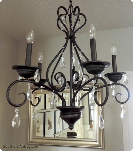 Craigslist Crystal Chandelier Makeover Knockoffdecor Com