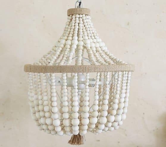 Amazing Pottery Barn beaded chandelier
