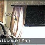 Chalkboard Map Rolling Shade