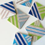 Painted Wood Patterned Coasters