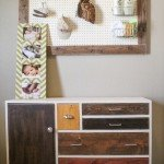 DIY Dresser with Eclectic Stained Finish