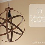 Embroidery Hoop Orb Pendant Light