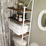 Metal and Wood Bathroom Shelf