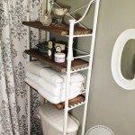 Metal and Wood Bathroom Shelf