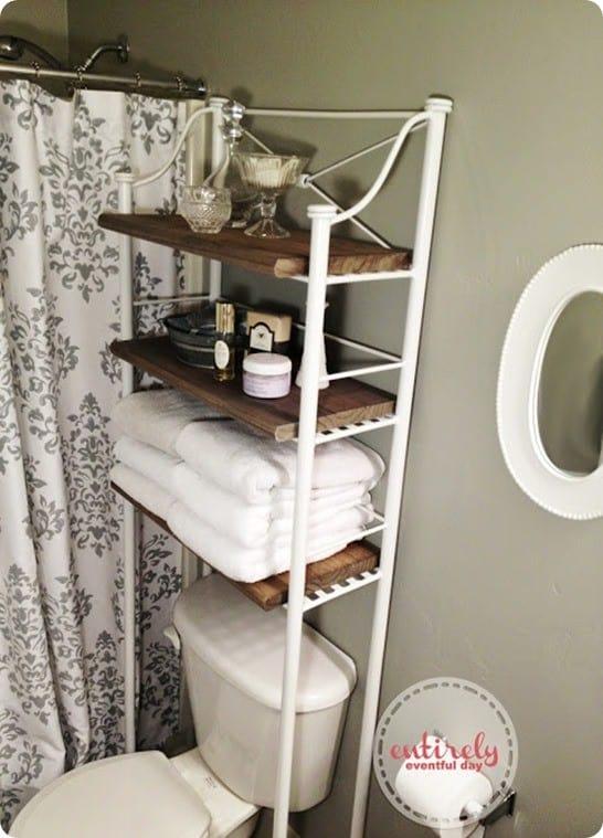 Metal And Wood Bathroom Shelf Knockoffdecor Com