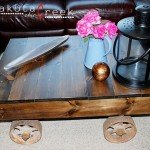 Antique Factory Cart Table
