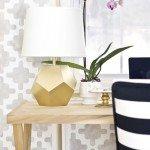 DIY Geometric Faceted Lamp Base