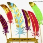 DIY Gold-Tipped Paper Feathers