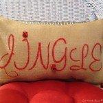"""Stenciled """"Jingle"""" Pillow that Jingles!"""