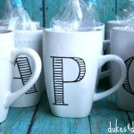 Monogram Mug Party Favors