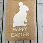 Burlap Easter Flag