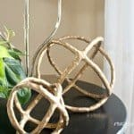 Decorative Gold Spheres from Clay