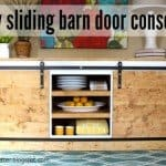 Sliding Barn Door Console Table