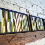 DIY Wall Décor from Coffee Stirrers