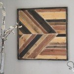 Geometric Pieced Wood Wall Art