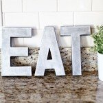 Faux Zinc Letters in Two Simple Steps