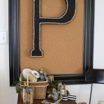 Upholstered Letter with Nailhead Trim