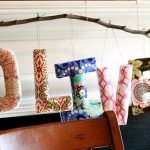 Pretty Fabric Wrapped Letters