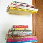 Simple and Cheap Floating Bookshelves