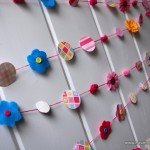 Colorful Flower Garland for a Spring Party