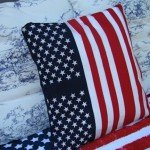 No-Sew Fourth of July Pillow Cover