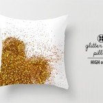 Glitter Heart Valentine's Pillow