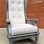 Reupholstered Rocker with Gray Wash Finish