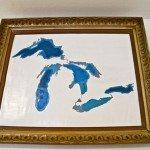 Great Lakes Map Wall Art