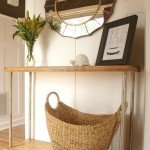 Wood and Pipe Console Table