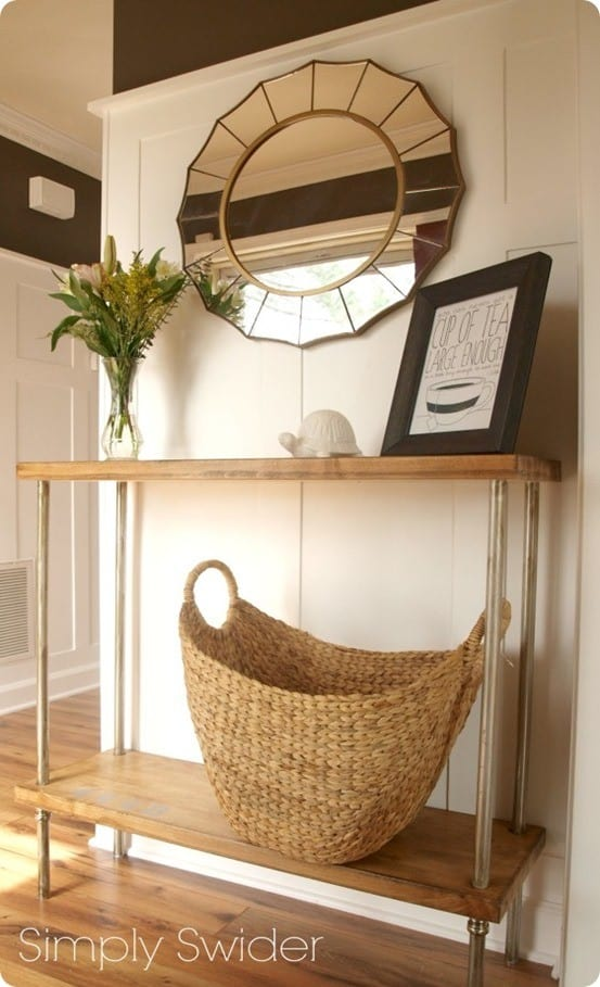 Wood And Pipe Console Table Knockoffdecor Com