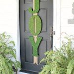 Moss-Covered Letters for Front Door Décor